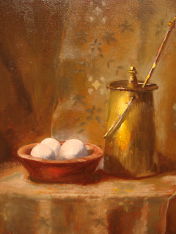 Eggs with Copper Pot (sold)
