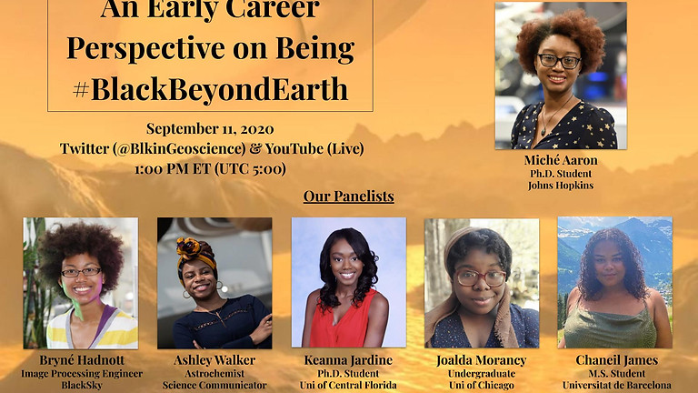 #BlackInGeosciencesWeek Black Women in Astro video conference