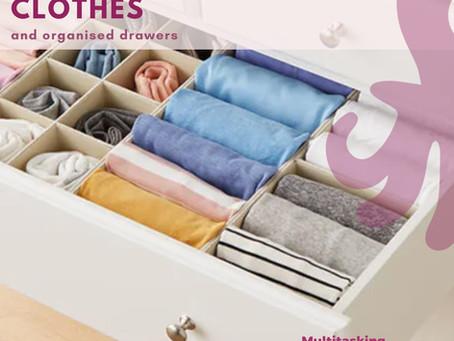 Folding clothes!
