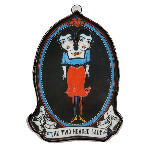THE TWO HEADED LADY-WS