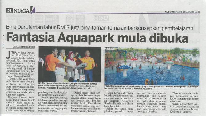 Fantasia Aquapark mula dibuka - Kosmo! (1 Februari 2018)