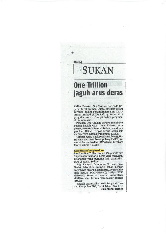 One Trillion jaguh arus deras - Berita Harian