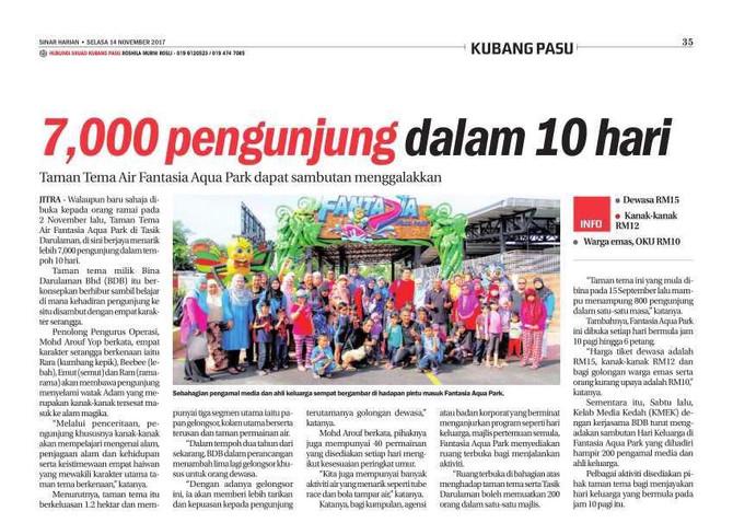 7,000 Pengunjung Dalam 10 Hari - Sinar Harian