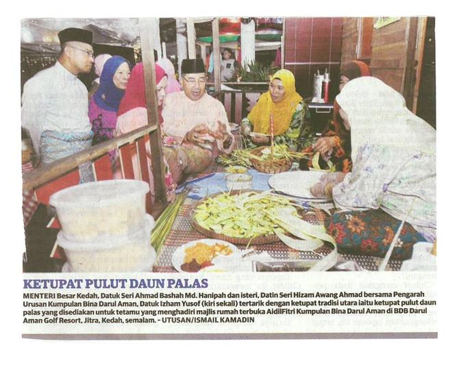 KETUPAT PULUT DAUN PALAS - UTUSAN MALAYSIA