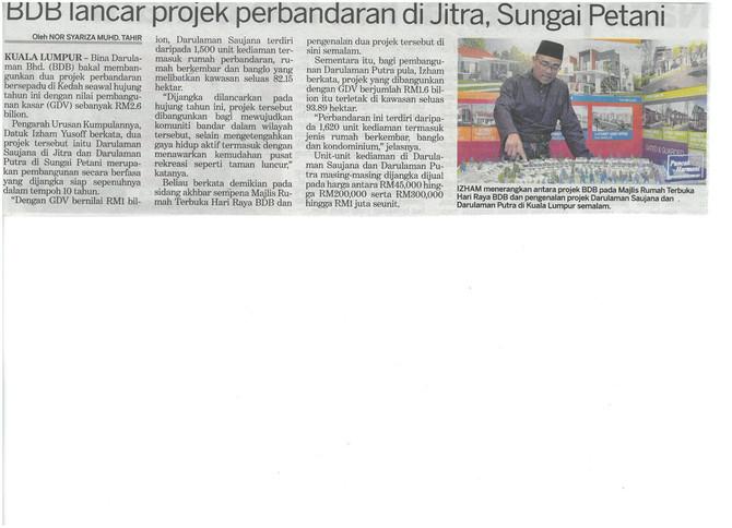 BDB lancar projek perbandaran di Jitra, Sungai Petani - KOSMO