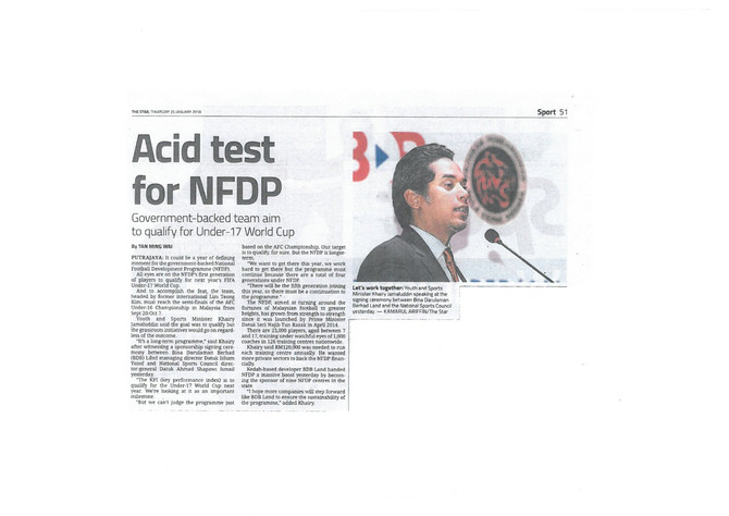 Acid test for NFDP - The Star (25/1/2018)