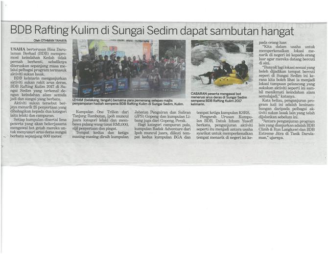 BDB Rafting Kulim di Sungai Sedim dapat sambutan hangat - Kosmo !