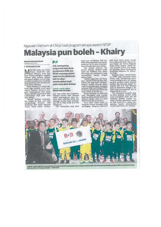 Malaysia pun boleh - Khairy - Utusan Malaysia (25/1/2018)