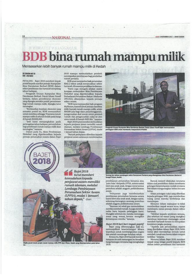 BDB Bina Rumah Mampu Milik - Sinar Harian
