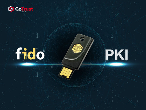 GoTrustID announces the first and immediately available USB/NFC Security Key for FIDO plus PKI