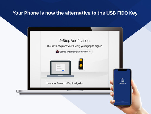 Your Phone is now the alternative to the USB FIDO Key
