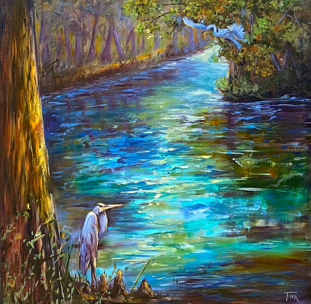 This was painted from a visit to amazing Ginny Springs, FL. This is Dogwood Springs. within the park.