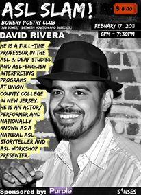 David Rivera ASL Slam
