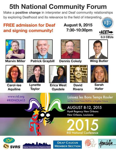 David Rivera RID Conference