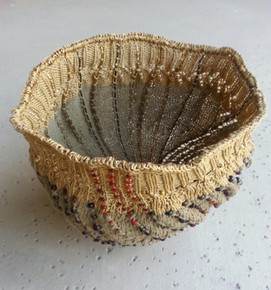 African Beaded Bowl