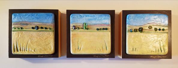 Fall Hay Field Triptych