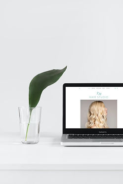 KM Hair Studio Website Design Mock Up
