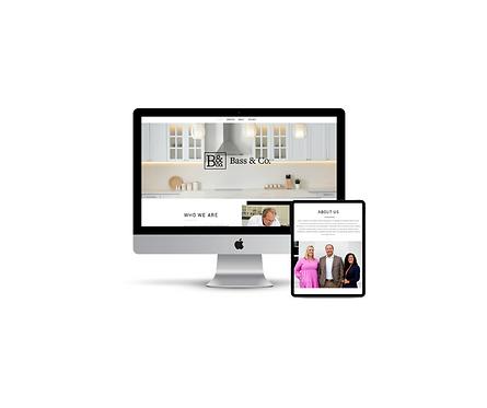 Bass Company Website Design Mock Up