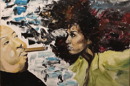 Alfred Hitchcock and Liya Kibade
