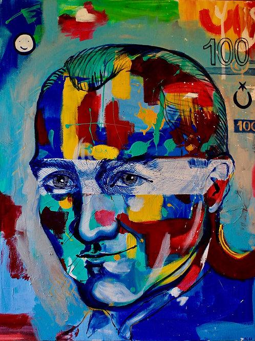Ataturk 100 x110 acryl canvas 2019
