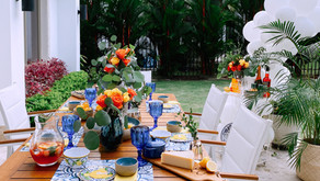 Haz un escape veraniego con un 'table setting' de la isla de Capri
