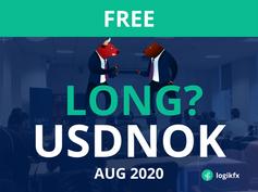 USDNOK Trade Idea (Aug, 2020) Long