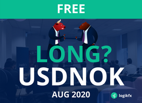 USDNOK Trade Idea (Aug, 2020) Long