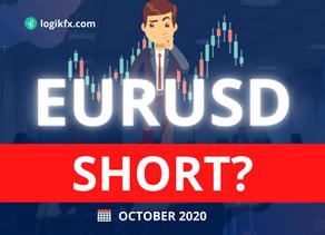 EURUSD Trade Idea (Oct, 2020) 2nd Wave Sell Off?!