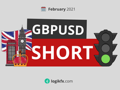 GBPUSD Short Trade Idea (Feb, 2021) Bank of England Negative Rates Coming!?