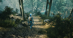 avatar walking on the forest