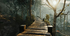 wood bridge in the rpg game parallel