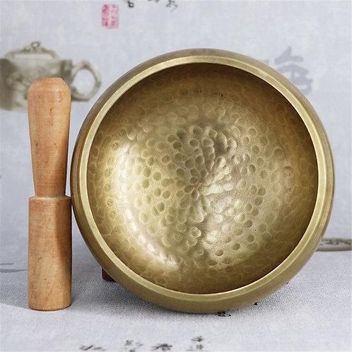 Himalayan Hand Full Moon Singing Bowl, Tibetan Buddhism Hammered Bowl