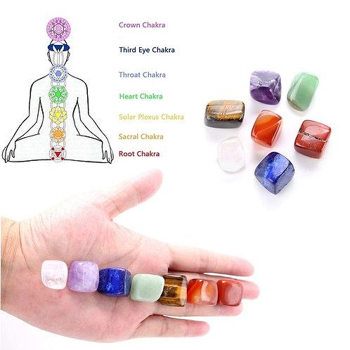 7 Colors 1 Set  Chakra Reiki Healing Crystals Stone
