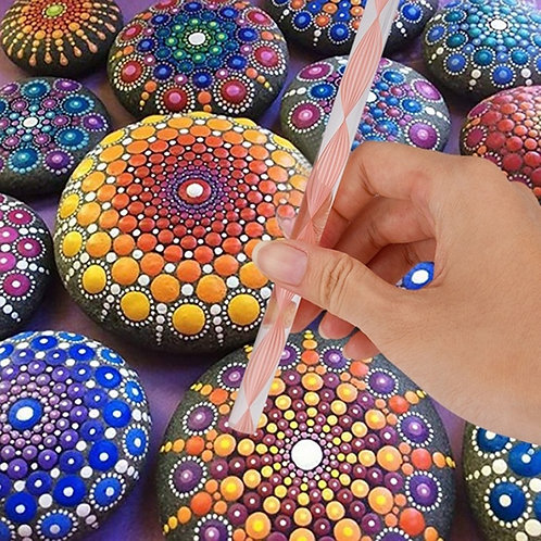 25pcs Mandala Dotting Tools for Painting Rocks Mandala Painting Dotting Stencil