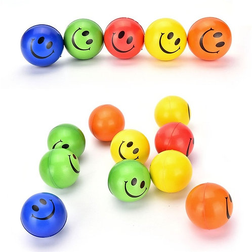Stress Ball Smile Face Hand Wrist Exercise Stress Relief Venting