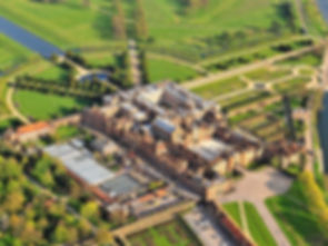 Ariel shot of Hampton Court Palace