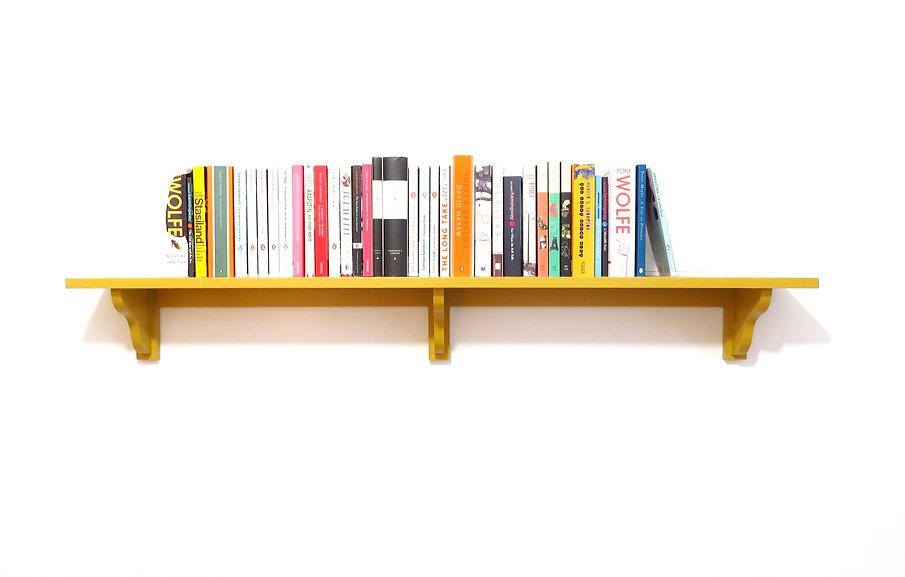 A bespoke painted bookshelf made to measure by Beaufort & Dunham
