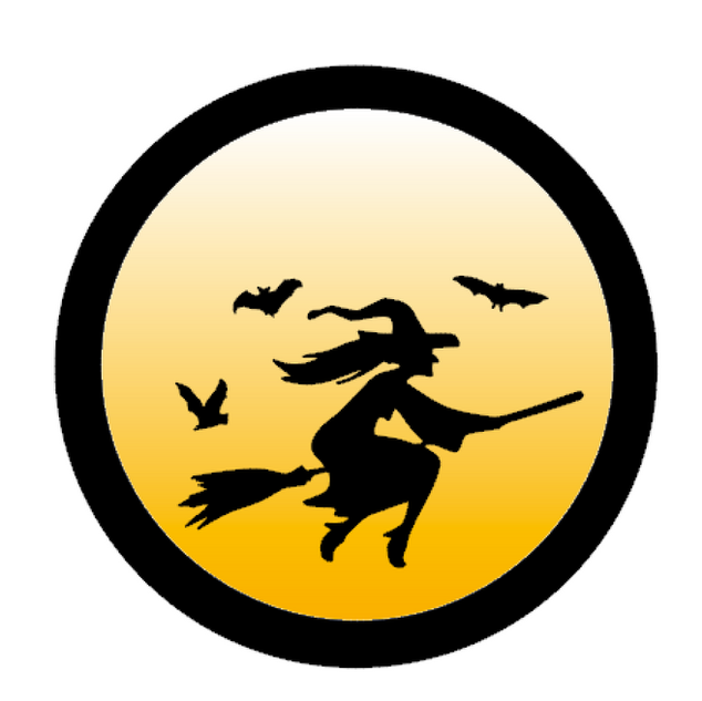 R18 Round witch silhouette