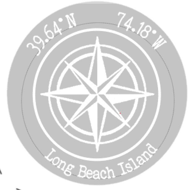 R4 Round compass w/ coordinates