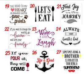 Designs 19-27