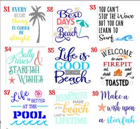Summer/beach designs