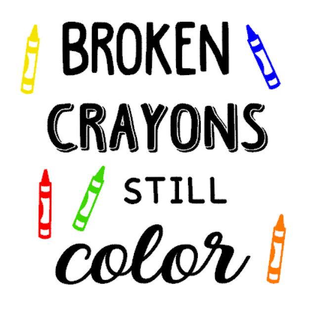 K24- Broken crayons still color
