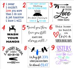 Designs 1-9