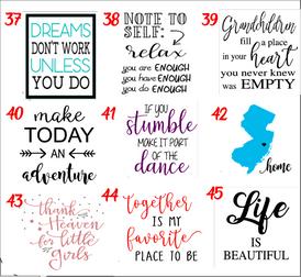 Designs 37-45