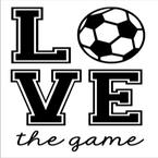 K33- love the game soccer