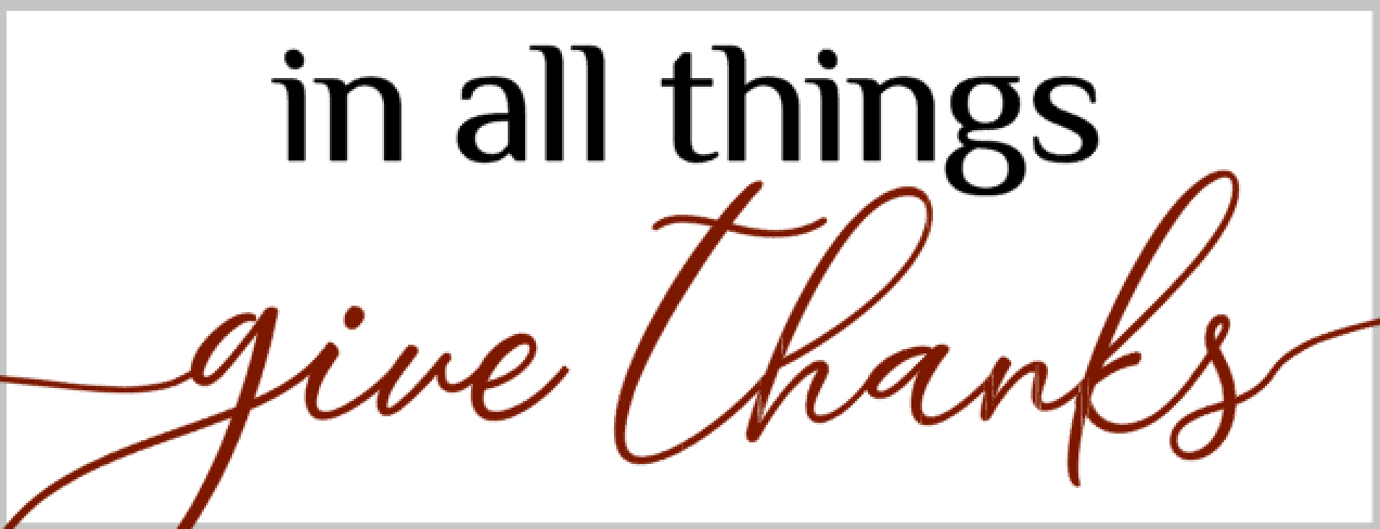 M21-In all things give thanks