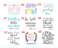 Easter & Bible designs
