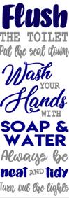 M10-Flush toilet:wash hands
