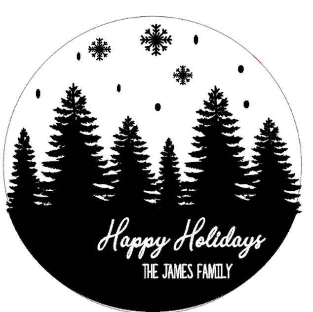 R21 Round Happy holiday Personalized