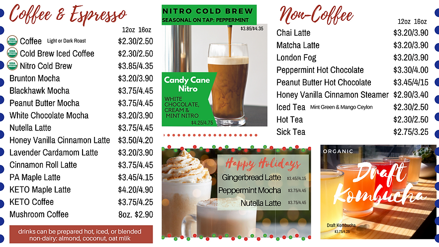 Java Hut Menu December inside - drinks.p
